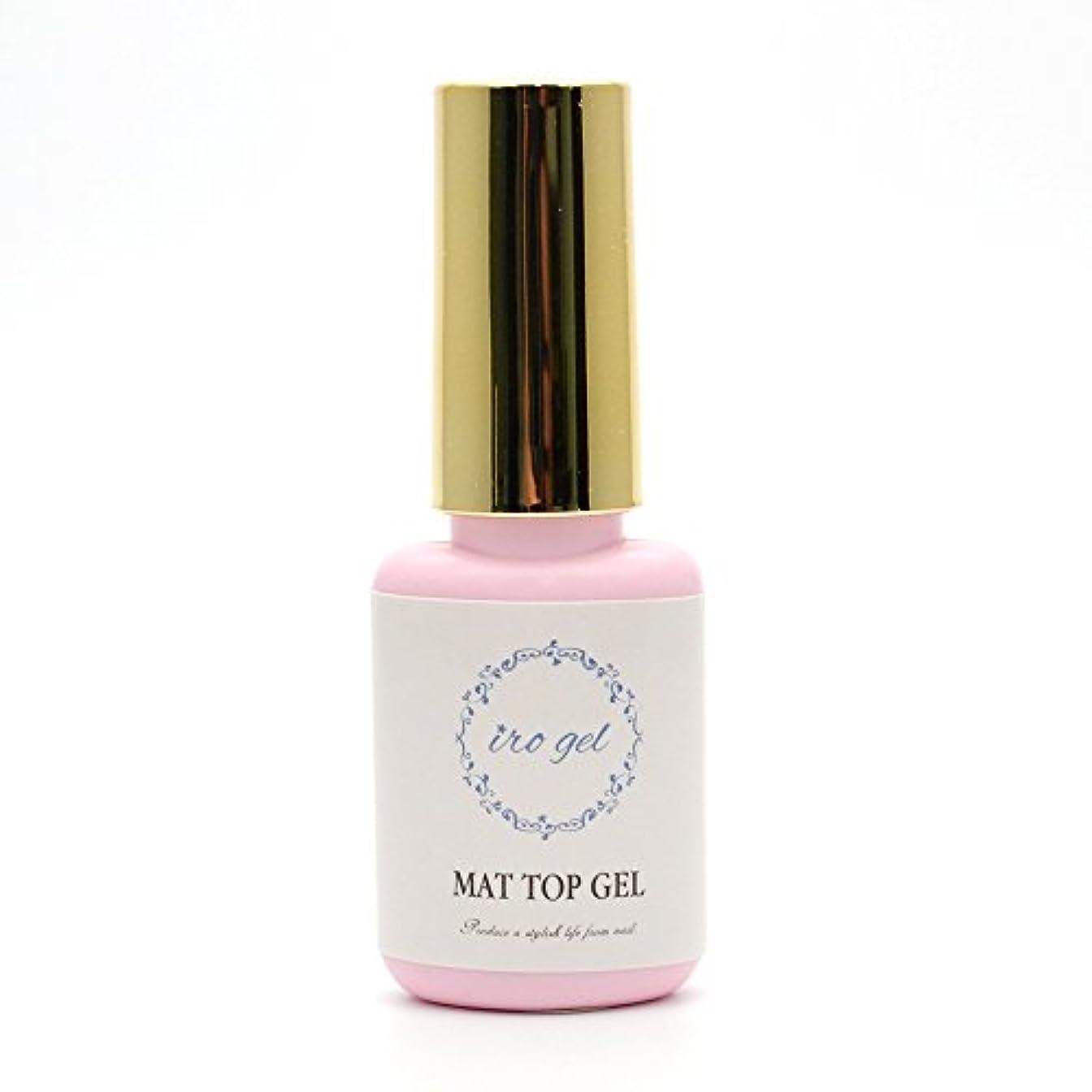 ゼリー藤色装置irogel 【水色ラベル】 マットトップジェル 拭き取り不要 ノンワイプベロアトップコート