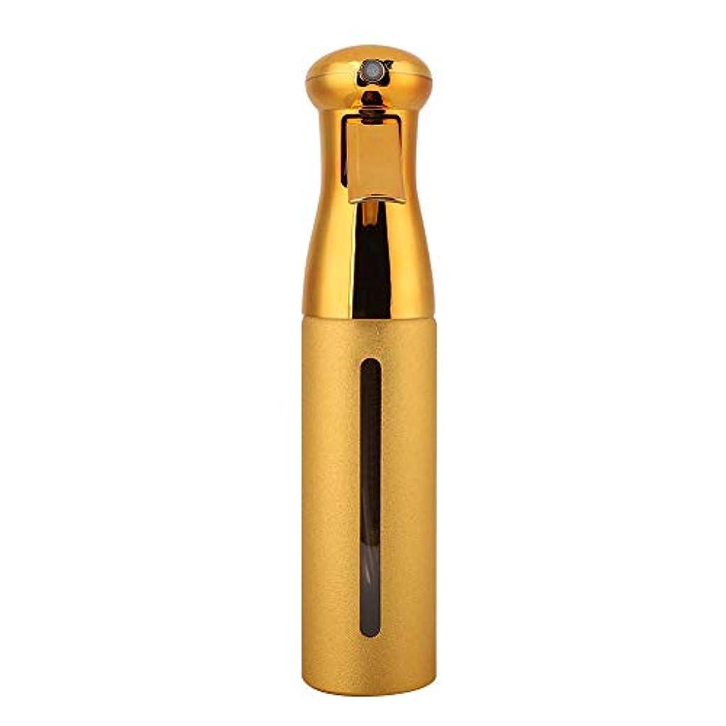 図書館スラム反発250ml理髪スプレーボトル、サロン床屋ヘアツールファインミストスプレースタイリングツール(ゴールド)