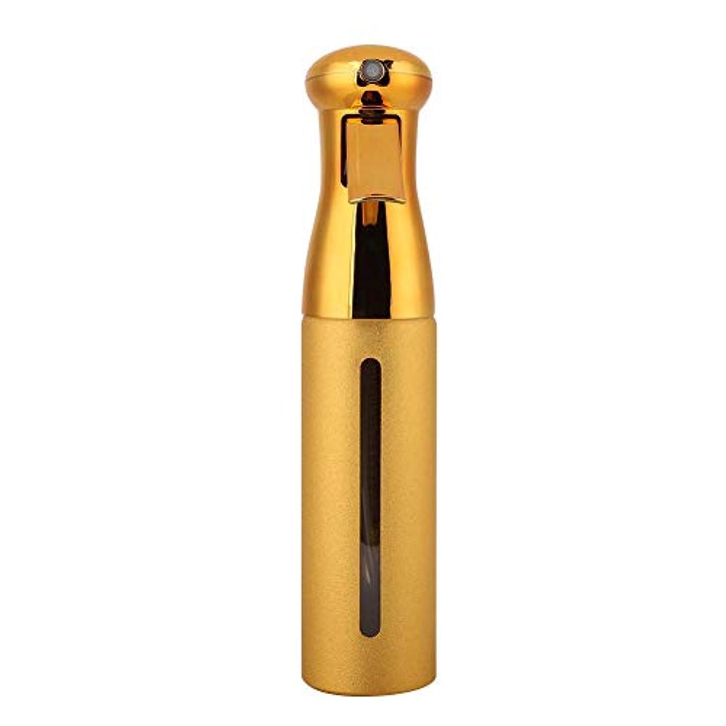 びっくりする抽選アウター250ml理髪スプレーボトル、サロン床屋ヘアツールファインミストスプレースタイリングツール(ゴールド)