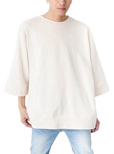 (ベストマート) BestMart ゆったり ドロップショルダー 裏毛 ポケット付き 七分袖 トレーナー メンズ 622773