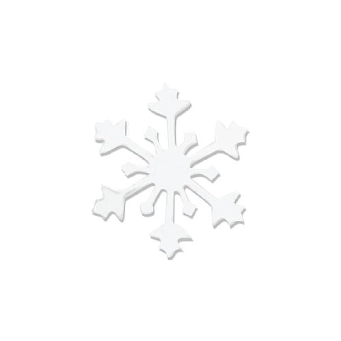 剃るユーザー理論的リトルプリティー ネイルアートパーツ スノークリスタル SS ホワイト 15個