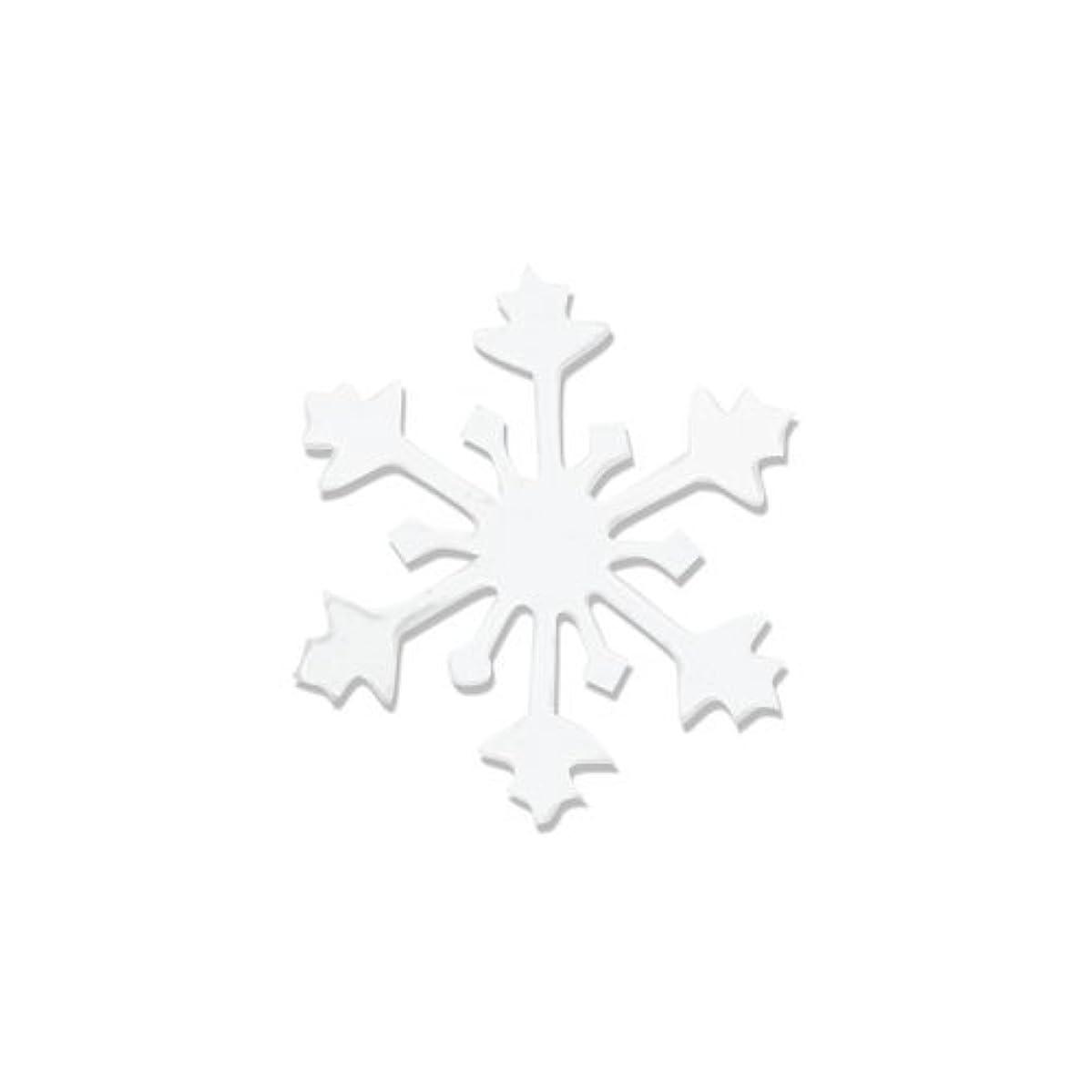 ロマンス簡潔なゲージリトルプリティー ネイルアートパーツ スノークリスタル SS ホワイト 15個