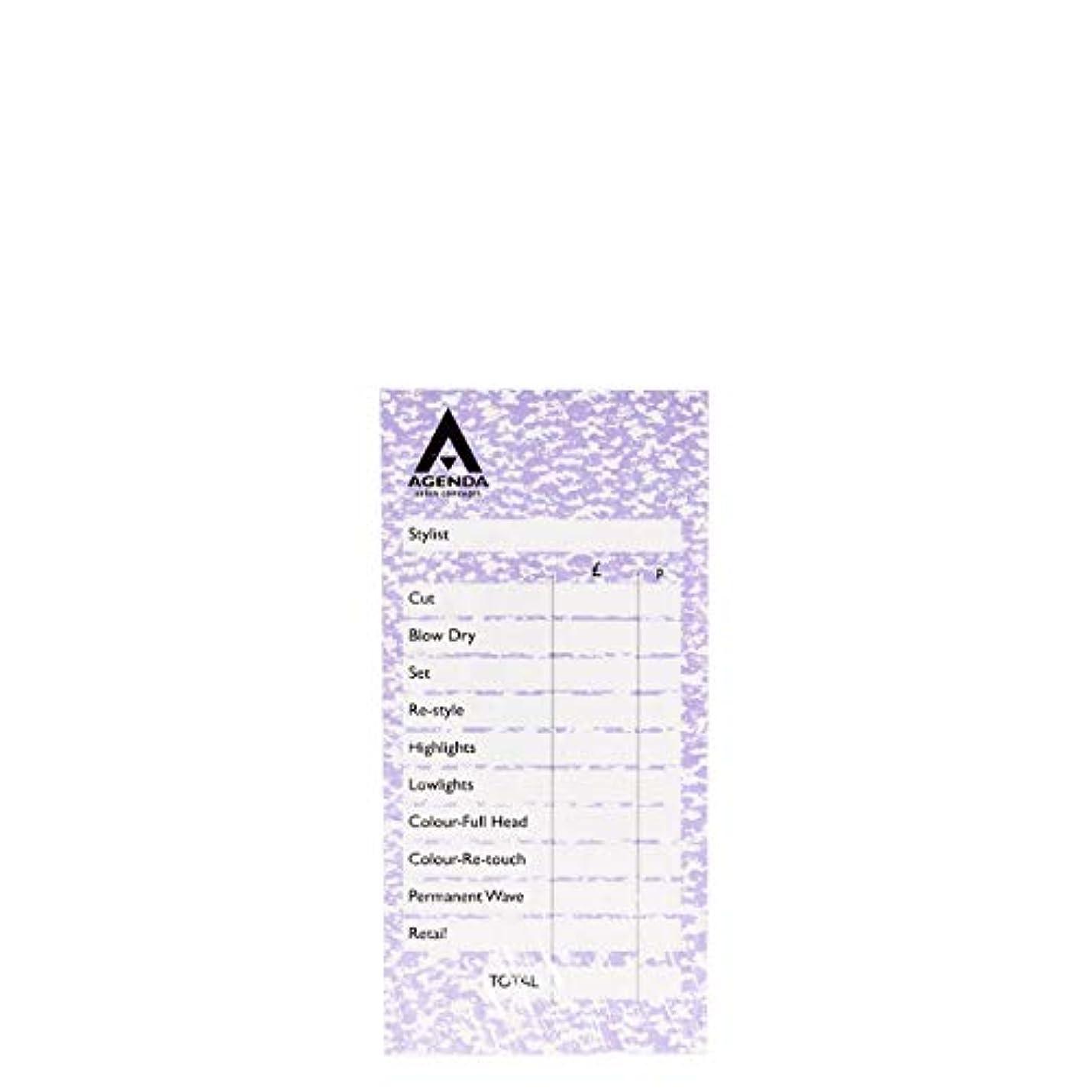 ドレイン分パーセントアジェンダ サロンコンセプト チェックパッドモーブ6x100リーフ[海外直送品] [並行輸入品]