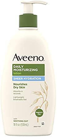 Aveeno Daily Moisturizing Body Lotion with Soothing Oat and Rich Emollients to Nourish Dry Skin