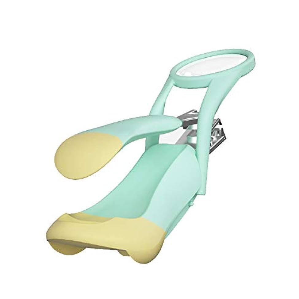 みなさん類人猿強化するネイルニッパー, 爪クリッパー老人とベビーセーフネイルケアデラックスネイルクリッパー拡大鏡付き 厚くまたは陥入した足指の爪用 (色 : 緑)