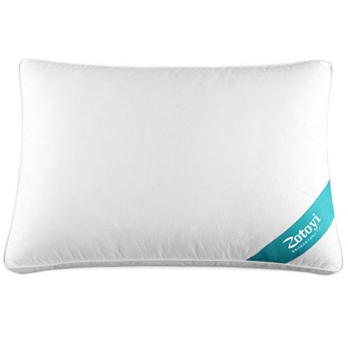 Zotoyi 枕 安眠 人気 高反発枕 横向き 肩こり対策 高級ホテル仕様 丸洗い可能 立体構造43x63cm ホワイト