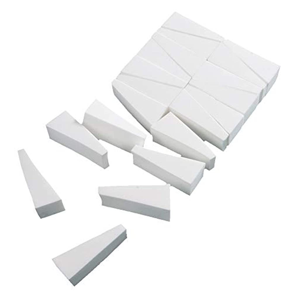 怒り大胆罪悪感FLORICA メイクスポンジ 水で膨らむ 洗浄後繰り返し使用可 三角形 乾湿兼用 多機能 メイク用 スポンジ パフ メイクアップ 化粧用 (三角形20個セット)