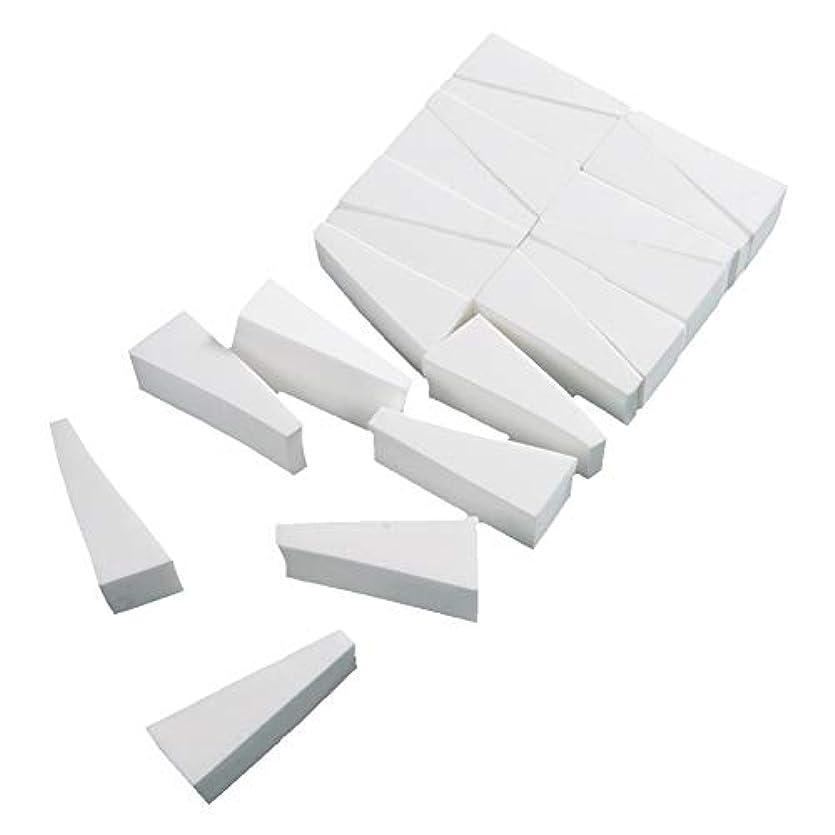 強制同情的宗教FLORICA メイクスポンジ 水で膨らむ 洗浄後繰り返し使用可 三角形 乾湿兼用 多機能 メイク用 スポンジ パフ メイクアップ 化粧用 (三角形20個セット)
