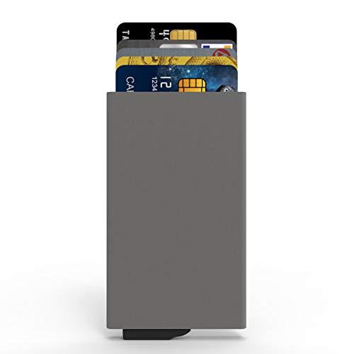 CARDHODA カードケース スライド式 5枚収納 アルミニウム (グレー)