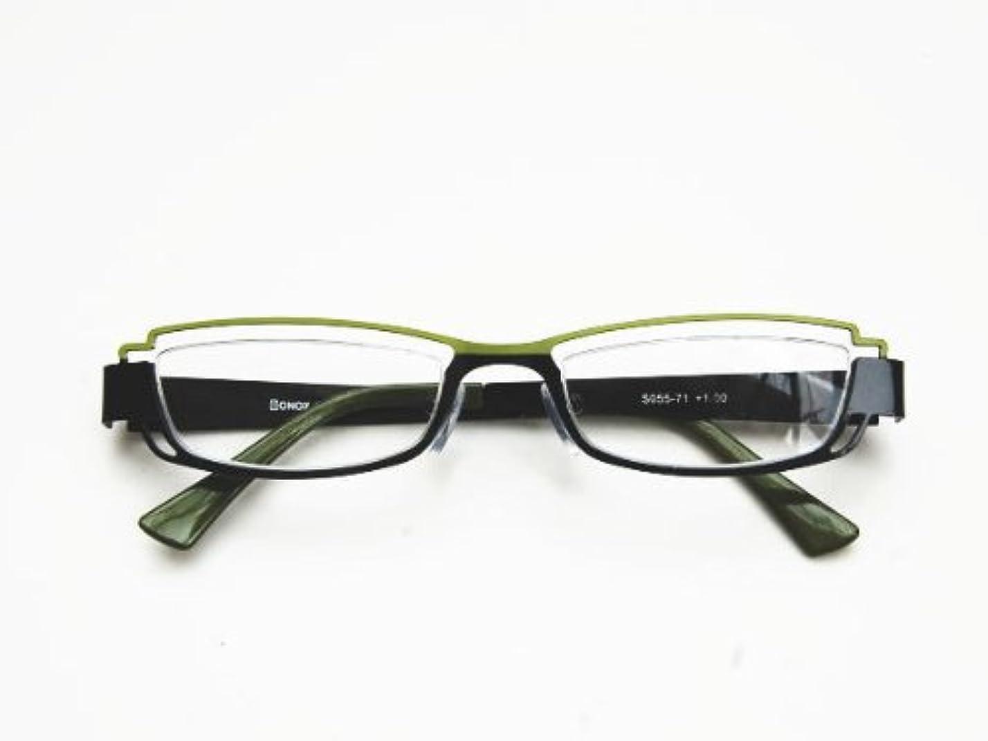 タイル性差別休みダルトン BONOX リーディンググラス 老眼鏡 S055-71GN +3.0