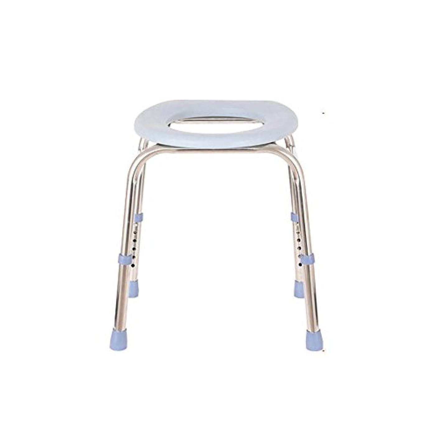 強い移住する懲戒- 妊娠中の女性のトイレ/シニアマン座っている椅子/バスチェアステンレス鋼の増粘強化非スリップ便座患者トイレスツールの高さ調節可能 チェスト