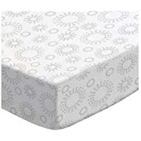 SheetWorld Fitted Cradle Sheet - Grey Dot Circles - Made In USA by sheetworld