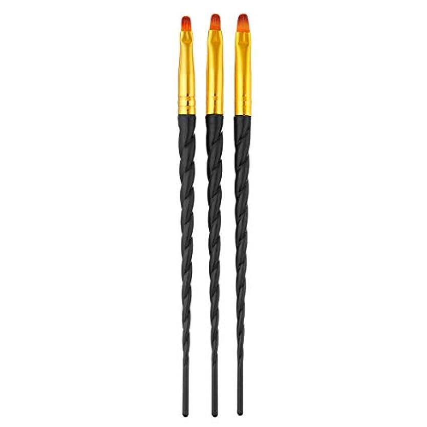逆さまに薄いです強いますTOOGOO 3ピース/セット、ネイルアート、スレッド、アクリルuvジェルの延長ビルダー、絵画ブラシのパターンのデザイン、描画用ペン、マニキュアツール、ブラック