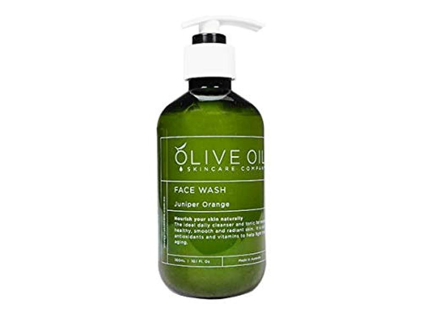国無人手書きOliveOil フェイスウォッシュ?ジュニパーオレンジ300ml (OliveOil) Face Wash (Juniper Orange) Made in Australia