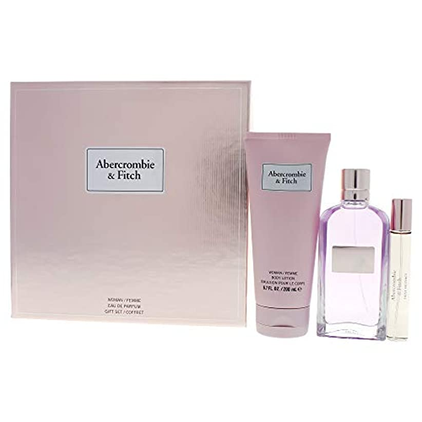 追記いま相対サイズアバクロンビー&フィッチ First Instinct Coffret: Eau De Parfum Spray 100ml/3.4oz + Body Lotion 200ml/6.7oz + Eau De Parfum...