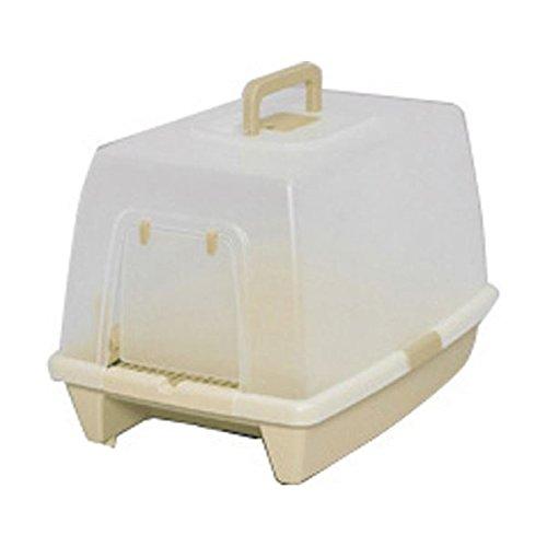 【お徳用 2 セット】 アイリスオーヤマ 砂落としマット付脱臭ネコトイレ SN-520 ミルキーブラウン×2セット