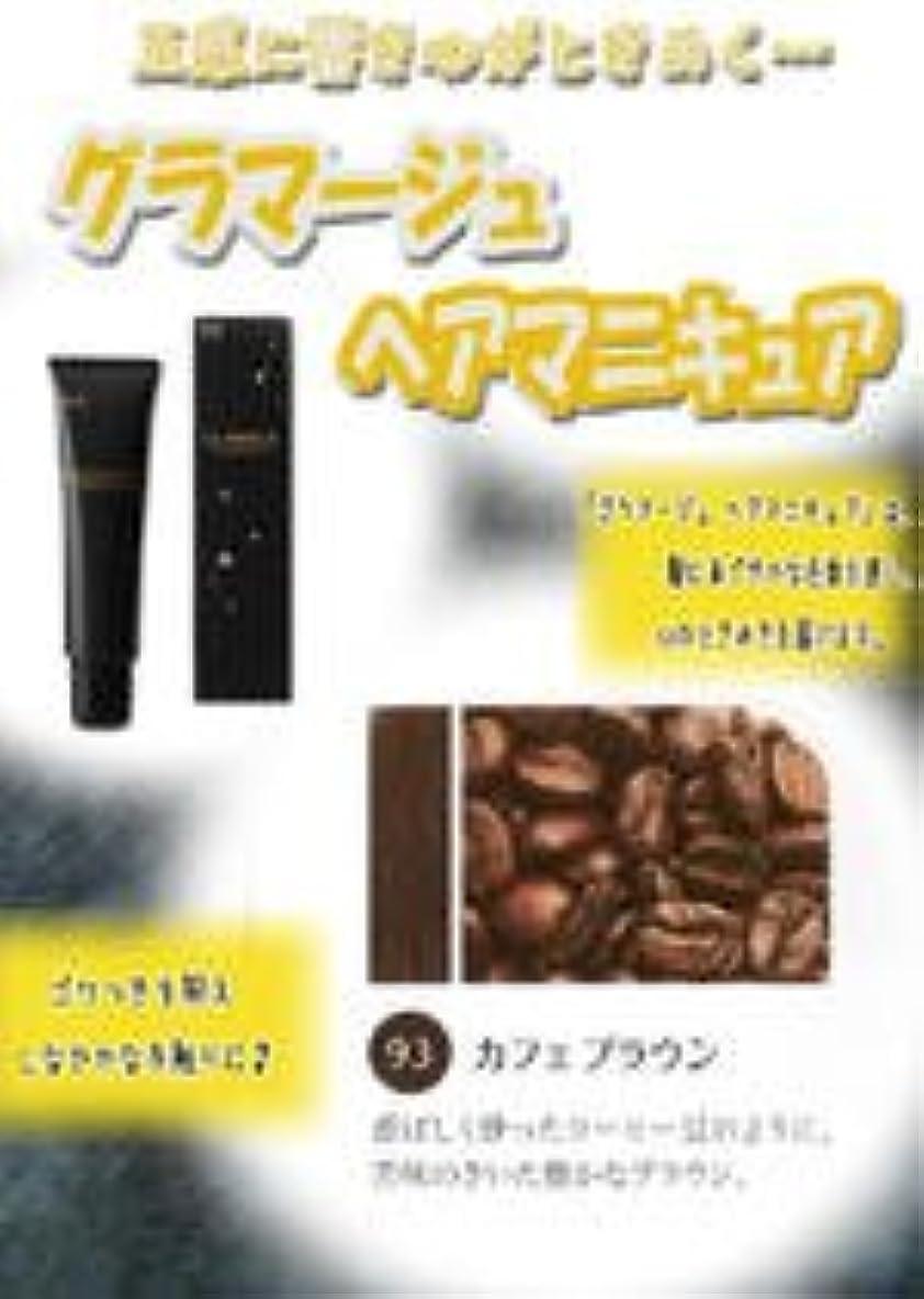 ヘビーワンダーヘビーHOYU ホーユー グラマージュ ヘアマニキュア 93 カフェブラウン 150g 【ブラウン系】