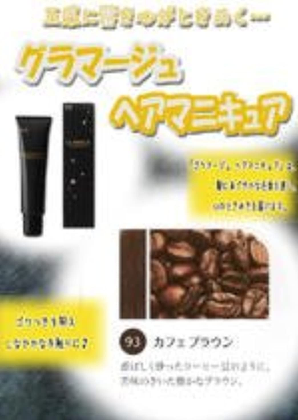 複雑な光沢集中HOYU ホーユー グラマージュ ヘアマニキュア 93 カフェブラウン 150g 【ブラウン系】
