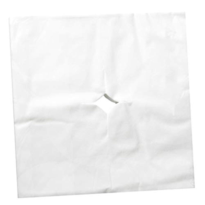 めまい珍しい特異性sharprepublic フェイスクレードルカバー マッサージフェイスカバー マッサージサロン 使い捨て 寝具カバー 全3色 - 白