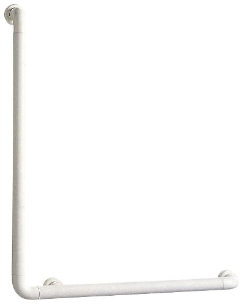 合理化セッティングドライブSANEI 【介護?手すり】 ソフトバーL型 バーの直径34mm?長さ700×600mm W580-J