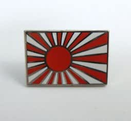 国旗ピンバッジ(旭日旗)