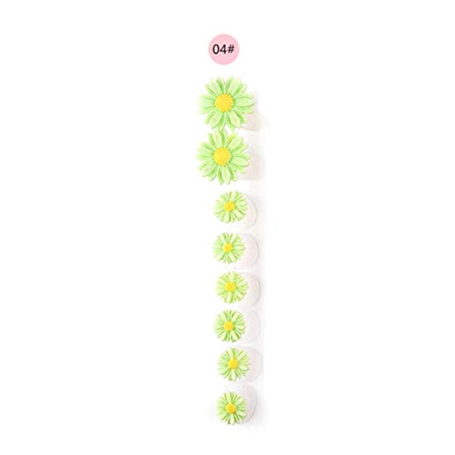 人類排出継承8ピース/セットシリコンつま先セパレーター足つま先スペーサー花形ペディキュアDIYネイルアートツール-カラフル04#