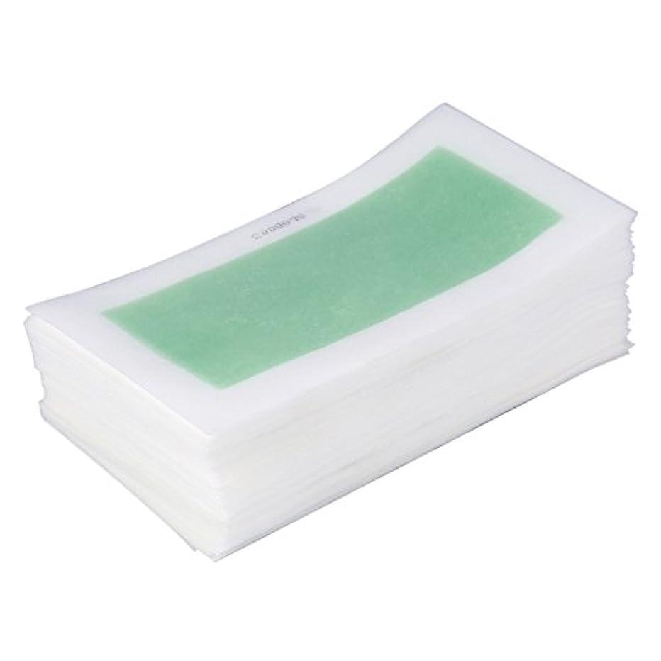 湿ったオーラル狂ったEboxer  脱毛ワックス紙 10個セット入 有効的 美容 使用便利 使い捨て 男女兼用 両面シート脱毛シート