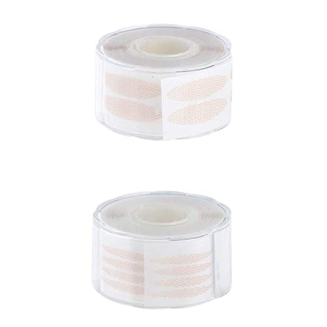 直径表面黄ばむT TOOYFUL 2組 440組 見えない 繊維のストリップ 二重まぶた テープ 2つの様式