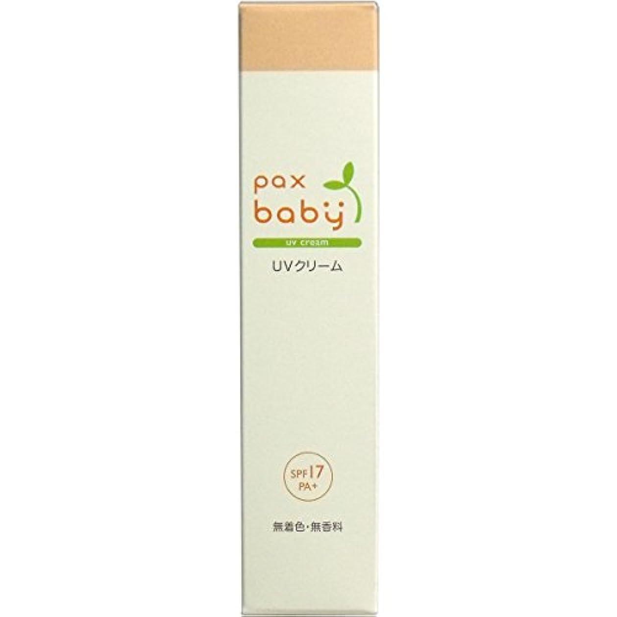 ビジョンモノグラフパラシュート燥しがちな赤ちゃんのお肌の潤いを保つ パックスベビー UVクリーム SPF17/PA+(顔?からだ用) 30g チューブ入 4本セット