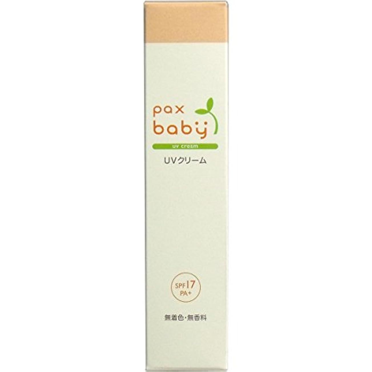 リングバック泥沼プレーヤー燥しがちな赤ちゃんのお肌の潤いを保つ パックスベビー UVクリーム SPF17/PA+(顔?からだ用) 30g チューブ入 4本セット