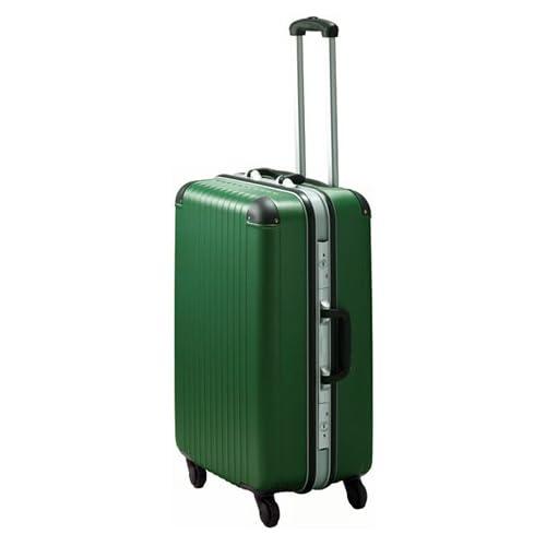 TSAロック コーナーパッド装備 スーツケース キャリーバッグ エキスパートTG2ハードキャリー・L (グリーン)