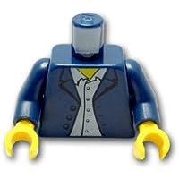 レゴブロックパーツ トルソー - ラフなブレザーとシャツ:[Dark Blue / ダークブルー]【並行輸入品】