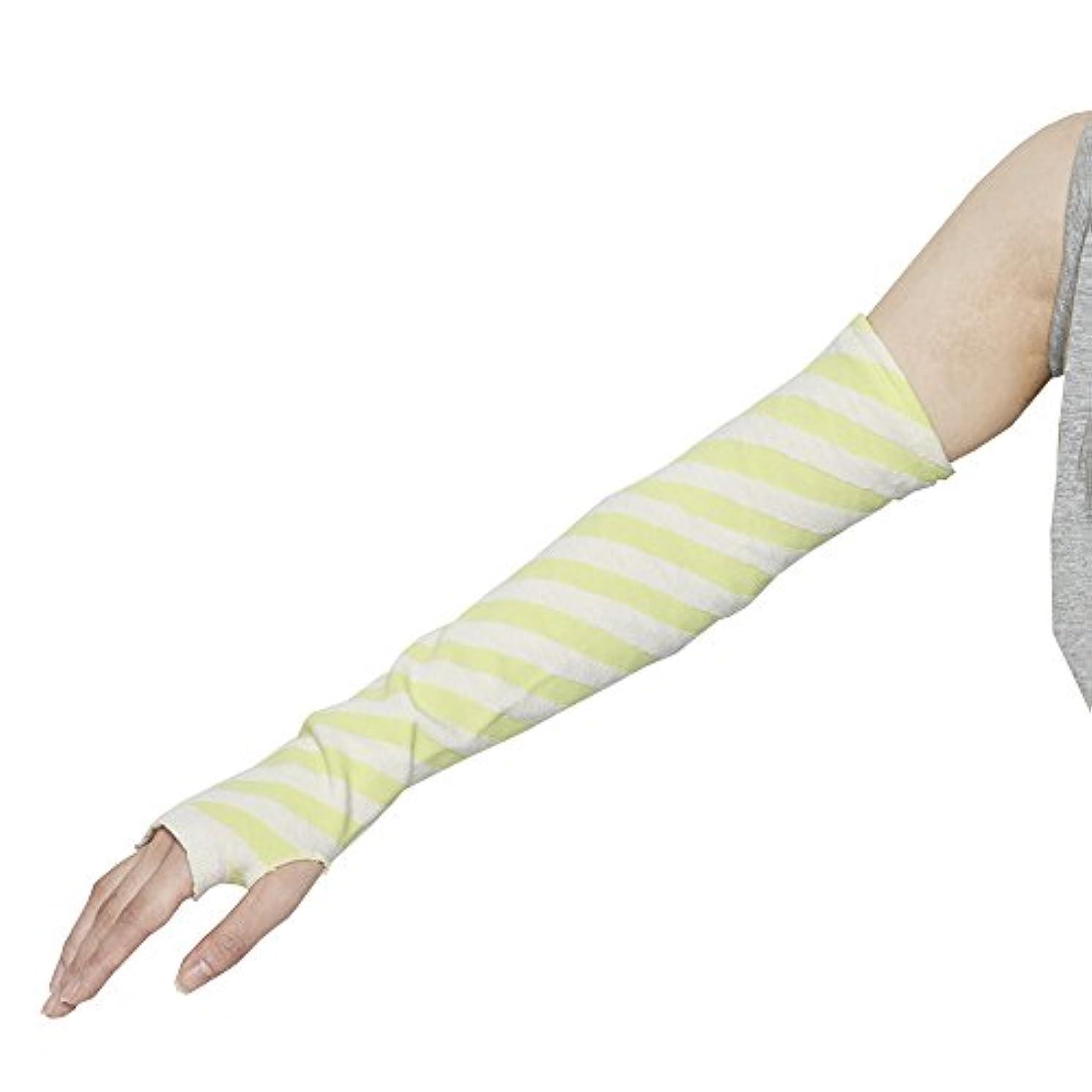 破滅西部一節Danke アームカバー UV ARM COVER Yellow Stripe Free パッカブル DWZ3507 [正規代理店品]