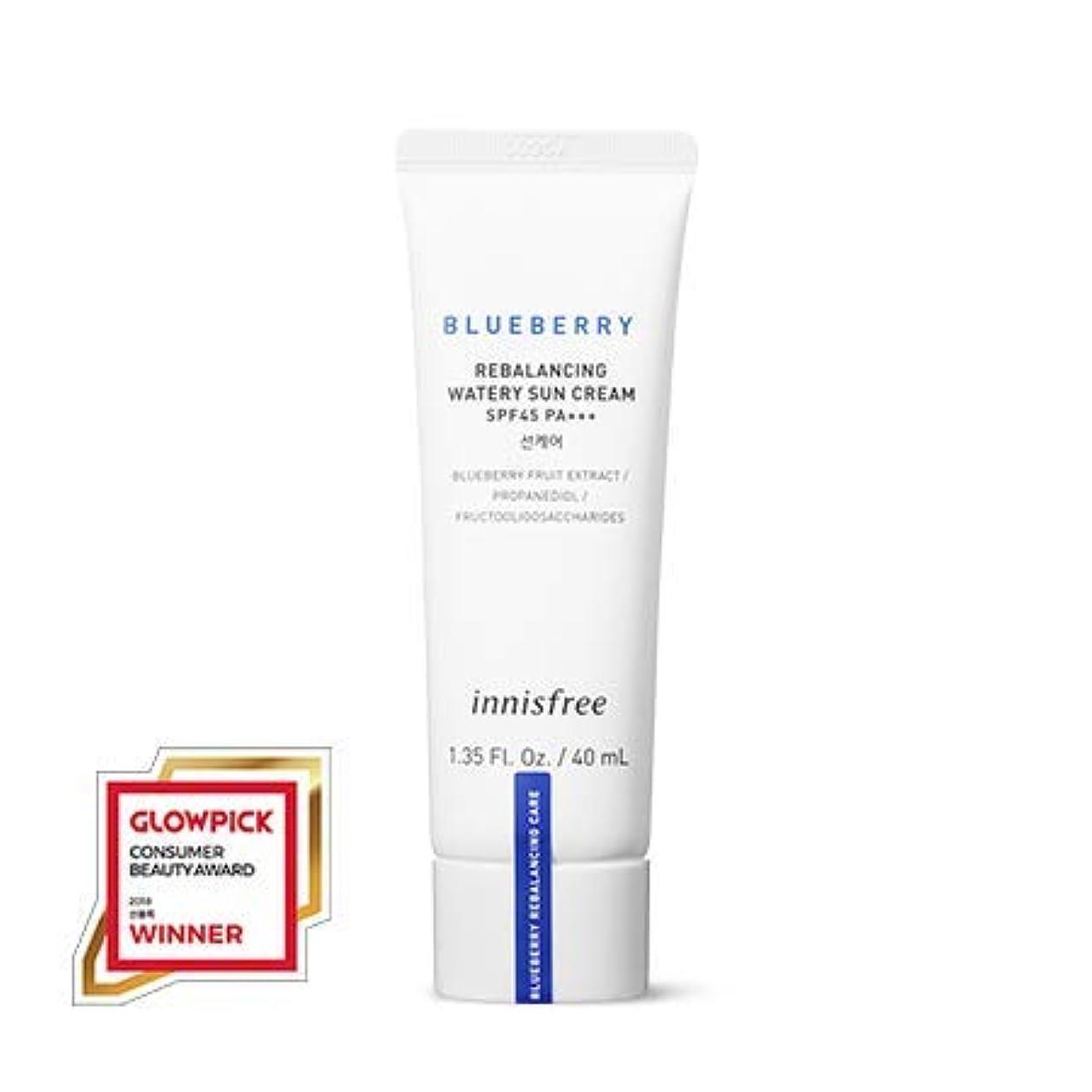 暴動範囲いらいらさせる[イニスフリー.innisfree]ブルーベリーリバランシングウォーターリー日焼け止め(40mL×2ea)(2019新発売)/ Blueberry Rebalancing Watery Sun Cream