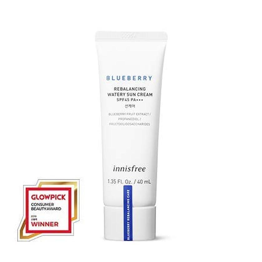いつでも有害不安定な[イニスフリー.innisfree]ブルーベリーリバランシングウォーターリー日焼け止め(40mL×2ea)(2019新発売)/ Blueberry Rebalancing Watery Sun Cream