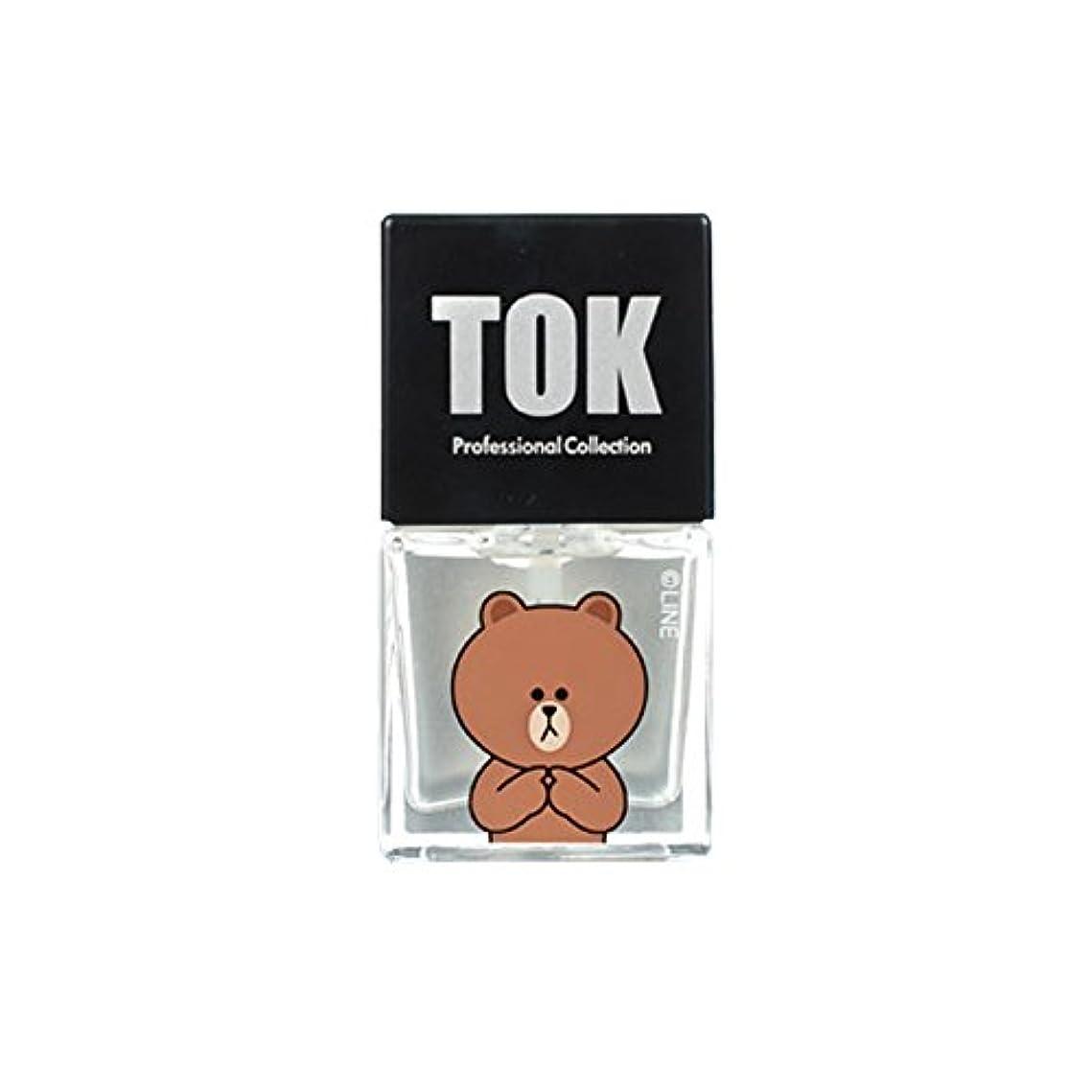 扇動大目的TOK Line Friends ネイル基本ケア ベースコート トップコート キューティクルオイル キューティクルリムーバー 栄養剤 /TOK Line Friends Nail Hybrid Basic Care[海外直送品...