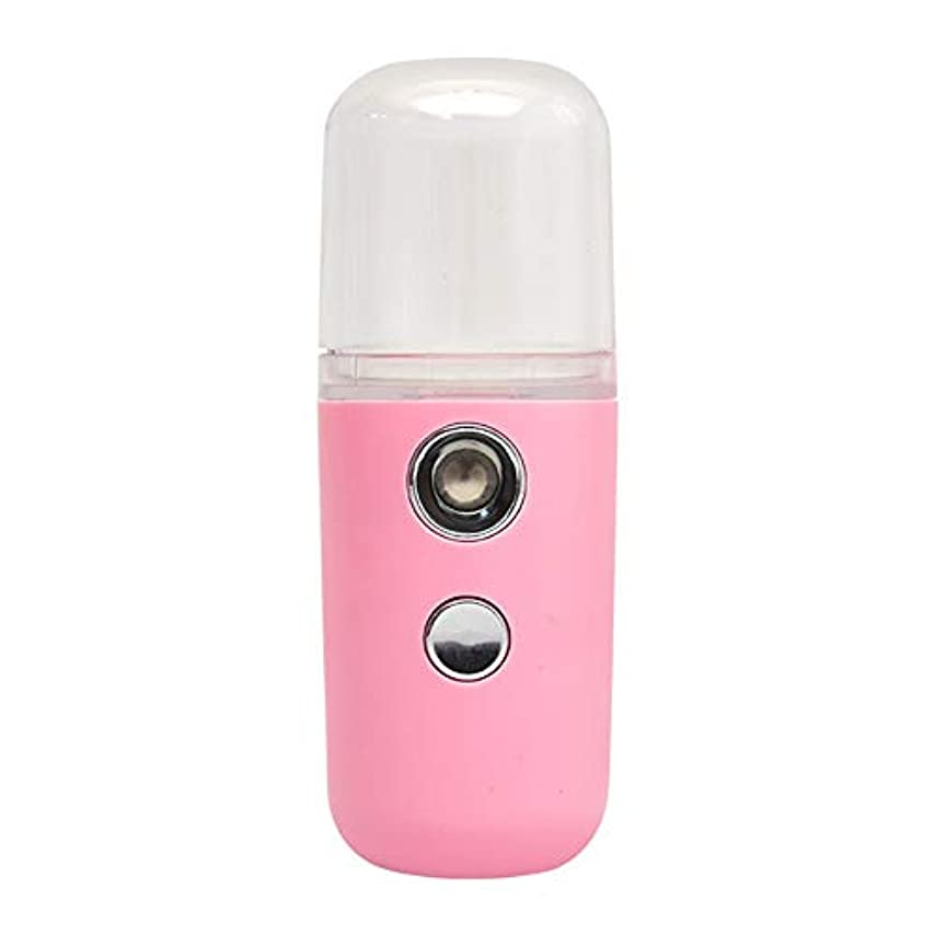 潜在的な見つけたロープZXF ポータブル水和スプレー機器美容スプレー機器加湿器スチームフェイスABS素材ナノスプレー水道メーターコールドスプレー器具ピンクホワイト 滑らかである (色 : Pink)