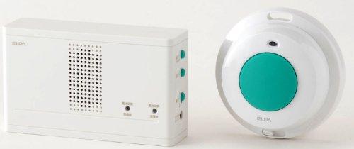 ELPA ワイヤレスチャイム 防水押しボタンセット EWS-1004