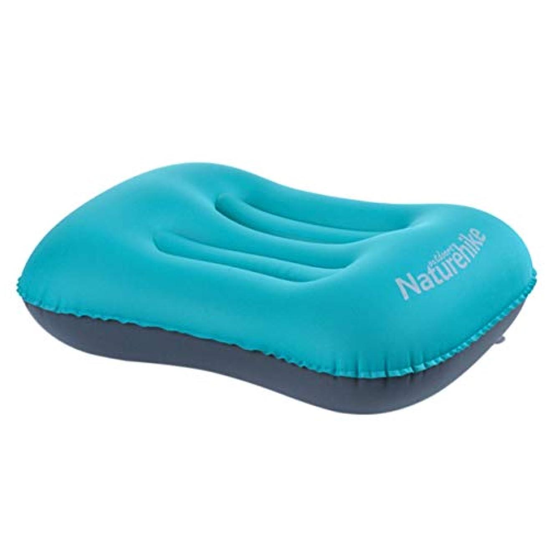 ブラジャーブロンズ穀物Saikogoods アウトドアキャンプ旅行 ソフトTPU枕のためのミニトラベルピロー 超軽量のポータブル インフレータブル枕 エアクッション 青