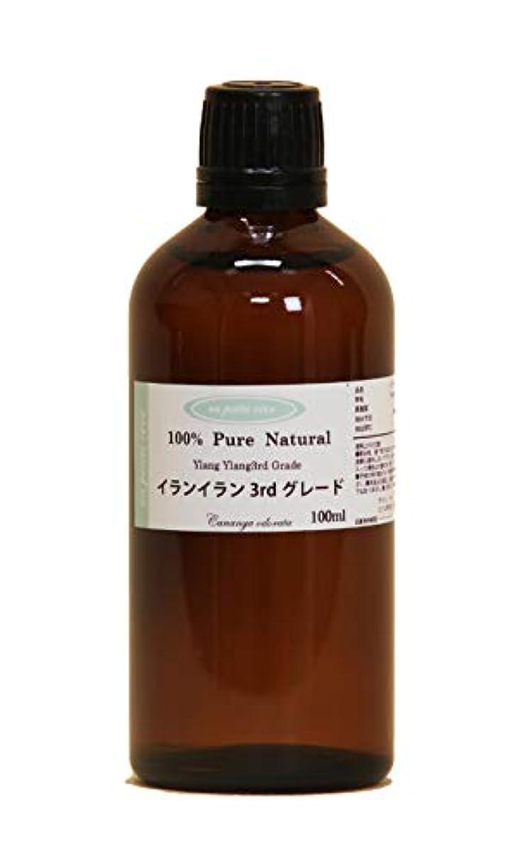 乱雑な聞きますシリングイランイラン3rdグレード 100ml 100%天然アロマエッセンシャルオイル(精油)