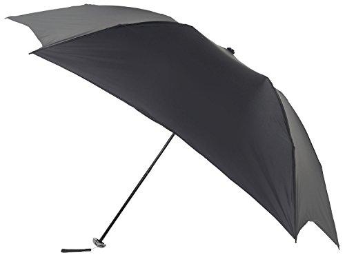 mabu 超軽量 (約80g) 折りたたみ傘 「 hane (ハネ) 」 親骨55cm 01 ノワール MBU-LMH01