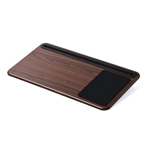 イーサプライ ひざ上テーブル ノートパソコン タブレット 15.6インチ ラップトップ 木目調 マウスパッド スタンド クッション EZ2-HUS008