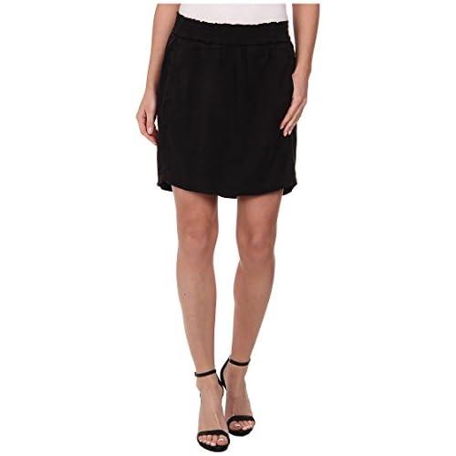 [スリードッツ] Three Dots レディース Skirt スカート Black MD (US 8-10) [並行輸入品]