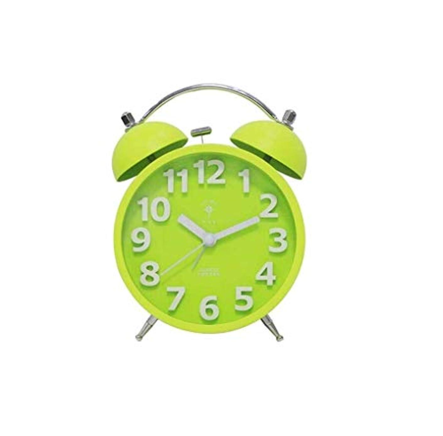 心配する無関心秘密のQiyuezhuangshi001 目覚まし時計、目覚まし時計学生ミュートかわいい電子時計、ベッドサイド電子目覚まし時計、創造ノッキング目覚まし時計、サブグリーン、 材料の安全性 (Color : Green)