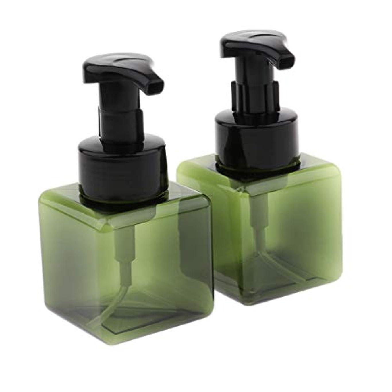 教育学男らしいのぞき穴SM SunniMix 泡ポンプボトル 空ボトル 詰替ボトル 小分け用 ディスペンサー 250ml スクエア 再利用可 全6色 - 濃い緑色