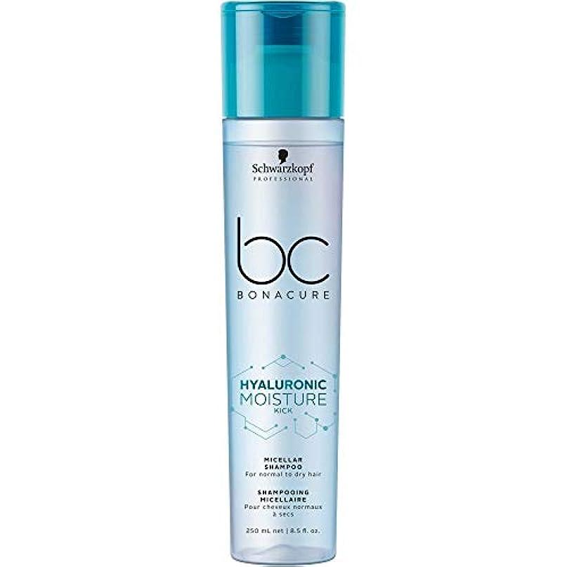 アイデア証明書不定シュワルツコフ BC ボナキュア ヒャルロニック モイスチャー キック シャンプー Schwarzkopf BC Bonacure Hyaluronic Moisture Kick Micellar Shampoo 250 ml [並行輸入品]