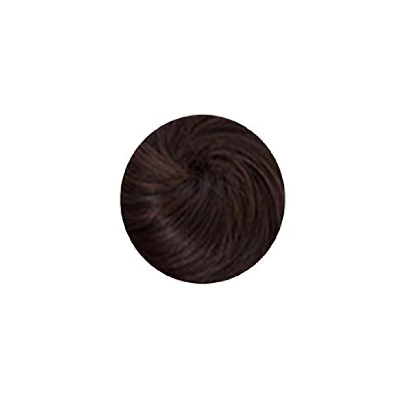 緑汚い弾力性のあるポニーテールパン毛リングロープバンドル人工毛パン髪ドーナツパンのかつらのかつらかわいい女性のフォルダ(ダークブラウン)で