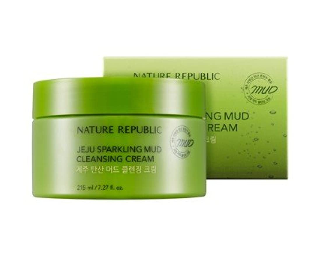 代理店結核嘆くNature republic Jeju Sparkling Mud Cleansing Cream ネイチャーリパブリック チェジュ炭酸マッド クレンジングクリーム 215ML [並行輸入品]