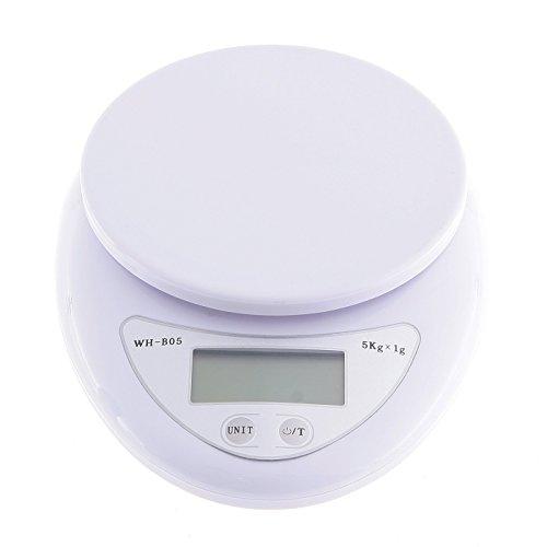 家庭用デジタル クッキングスケール 5kgまで 精密 風袋機能 デジタル台はかり ホワイト