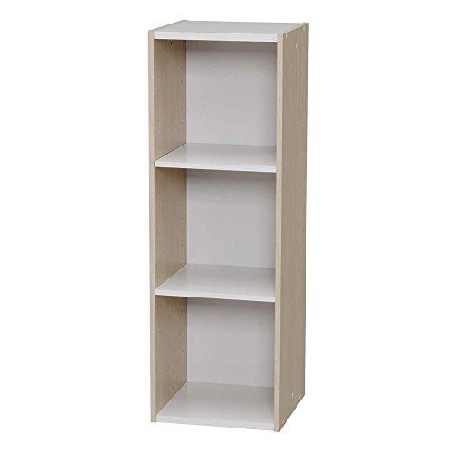 ラック 収納 本棚 書棚 オープンラック ディスプレイラック 文庫 スペースユニット 3段(258981) アイリスオーヤマ